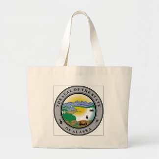 Alaska State Seal Canvas Bags