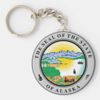 Alaska State Seal Key Ring