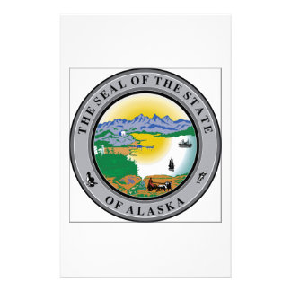Alaska State Seal Customized Stationery