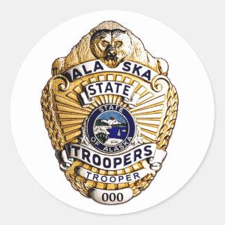 Alaska State Trooper Round Sticker