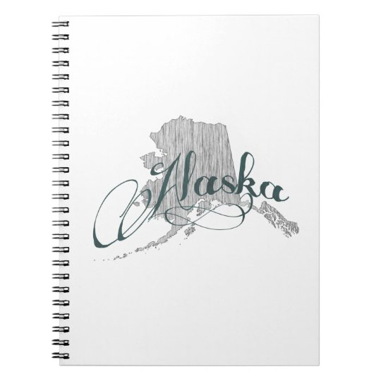 Alaska State Typography Notebook