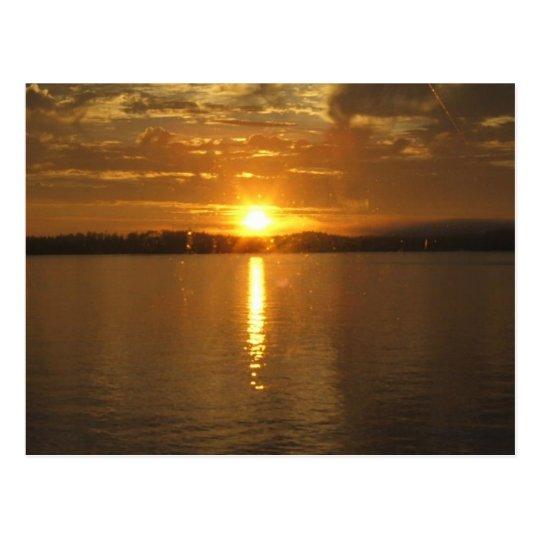 Alaska Sunset Postcard