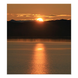 Alaska Sunset - Reflecting off Ocean Photographic Print