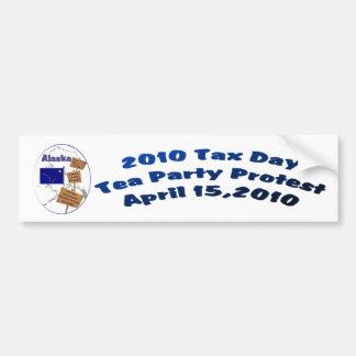 Alaska Tax Day Tea Party Protest Bumper Sticker