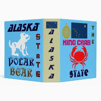 ALASKA: THE KING CRAB/POLAR BEAR STaTE Vinyl Binders
