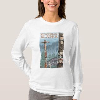 Alaska Totem Poles - Ketchikan, Alaska T-Shirt