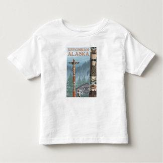 Alaska Totem Poles - Ketchikan, Alaska Toddler T-Shirt