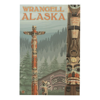 Alaska Totem Poles - Wrangell Alaska Wood Wall Decor