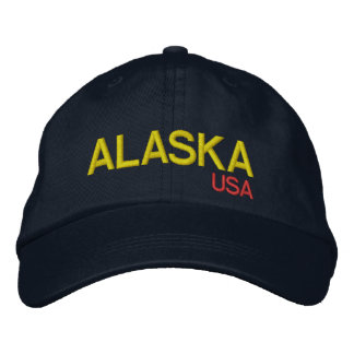 Alaska* USA Adjustable Hat Embroidered Hats