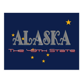 Alaska USA Flag Post Card
