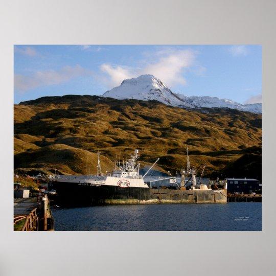 Alaska Victory, Fishing Trawler in Dutch Harbour, Poster