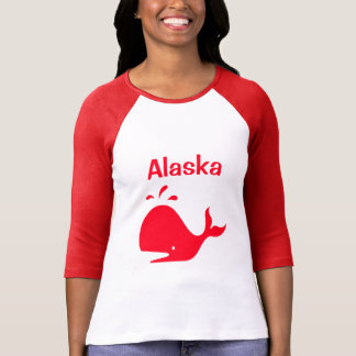 Alaska Whale Red 4Adrian T-Shirt