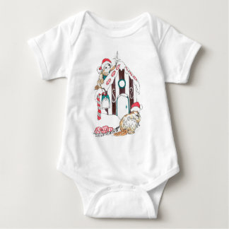 Alaska Whimsical Christmas Wildlife Baby Bodysuit