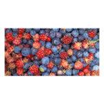 Alaska Wild Berries Fruits Personalized Photo Card