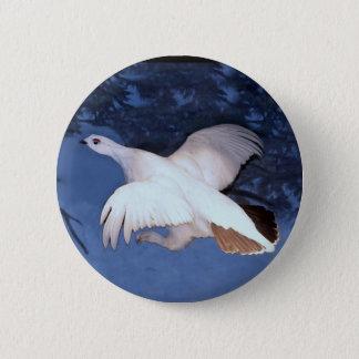 Alaska Willow Ptarmigan 6 Cm Round Badge