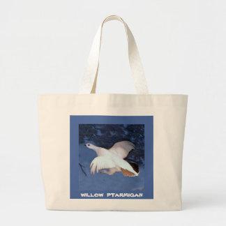 Alaska Willow Ptarmigan Large Tote Bag