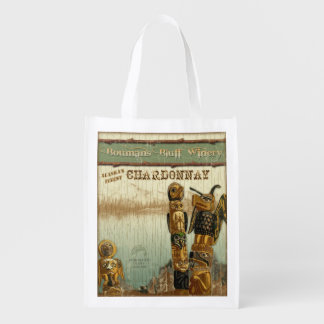 Alaska Wine Label, Chardonnay, grocery bag