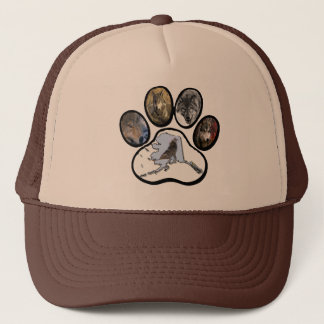 Alaska Wolf Paw Trucker Hat