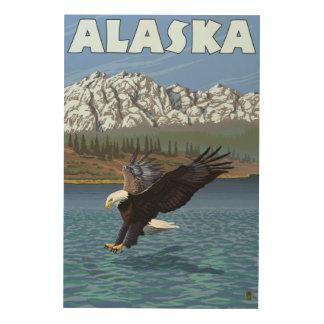AlaskaBald Eagle Vintage Travel Poster