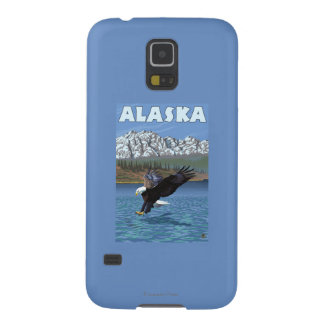 AlaskaBald Eagle Vintage Travel Poster Galaxy S5 Case