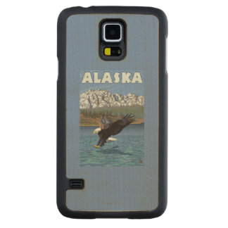 AlaskaBald Eagle Vintage Travel Poster Maple Galaxy S5 Slim Case