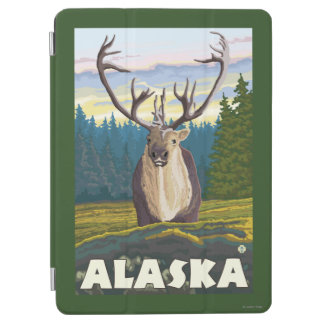 AlaskaCaribou in the Wild Vintage Travel iPad Air Cover