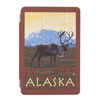 AlaskaCaribou Vintage Travel Poster iPad Mini Cover