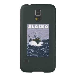AlaskaCrab Boat Vintage Travel Poster Galaxy S5 Cover