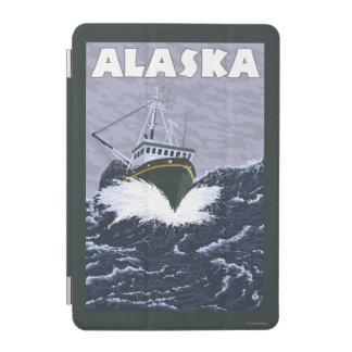 AlaskaCrab Boat Vintage Travel Poster iPad Mini Cover