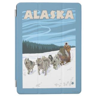 AlaskaDogsledding Vintage Travel Poster iPad Air Cover