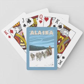 AlaskaDogsledding Vintage Travel Poster Playing Cards