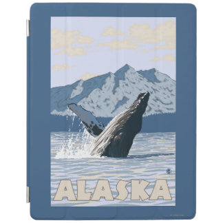AlaskaHumpback Whale Vintage Travel Poster iPad Cover