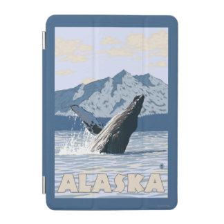AlaskaHumpback Whale Vintage Travel Poster iPad Mini Cover