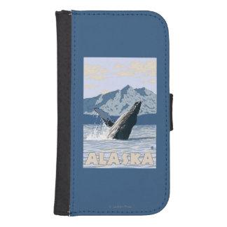 AlaskaHumpback Whale Vintage Travel Poster Samsung S4 Wallet Case