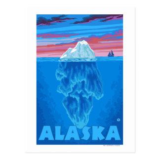 AlaskaIceberg Vintage Travel Poster Post Card