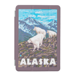 AlaskaMountain Goats Vintage Travel Poster iPad Mini Cover