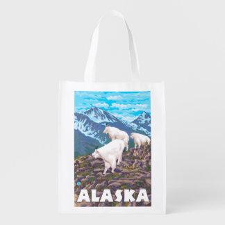AlaskaMountain Goats Vintage Travel Poster