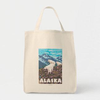AlaskaMountain Goats Vintage Travel Poster Tote Bag