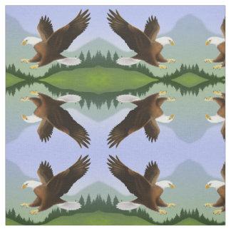 Alaskan Bald Eagle in Wilderness Fabric