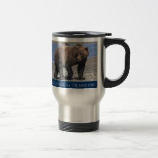 Alaskan Brown Bear take a walk on the wild side tr Stainless Steel Travel Mug