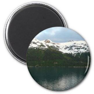 Alaskan Coast at Dusk Travel Photography 6 Cm Round Magnet