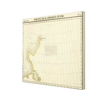 Alaskan Coast Map Canvas Print