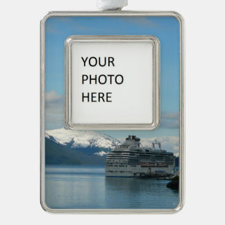 Alaskan Cruise Vacation Travel Photography Silver Plated Framed Ornament