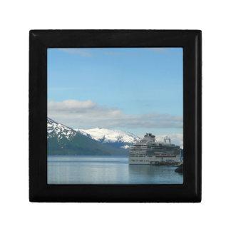 Alaskan Cruise Vacation Travel Photography Small Square Gift Box