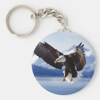 Alaskan Eagle In Flight Key Ring