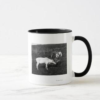 Alaskan Eskimo and Captured Reindeer Mug