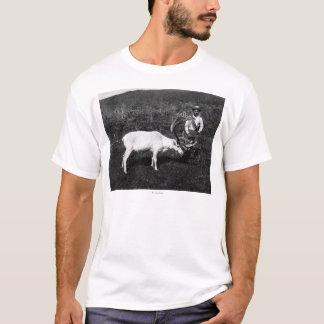 Alaskan Eskimo and Captured Reindeer T-Shirt