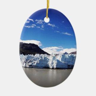 Alaskan Glacier Ceramic Oval Decoration