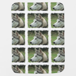 Alaskan Husky Baby Blanket