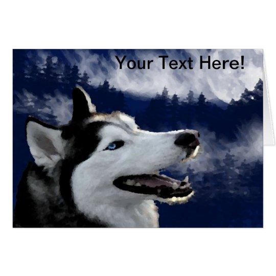 Alaskan Huskys Card